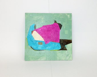 sweater // ORIGINAL 10 x 10 square abstract shapes texture painting