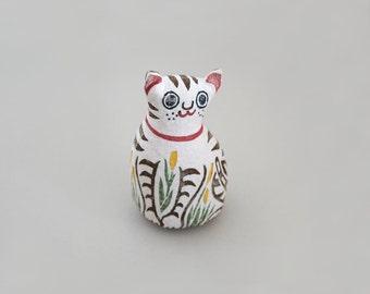 Woodblock Print Stuffed Toy, Cat