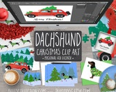 Dachshund Christmas Clip Art Collection - Breed Collection by TriPodDog
