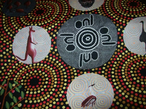 home decor fabric online australia per yard aboriginal fabric 100 cotton bush tucker with 12231