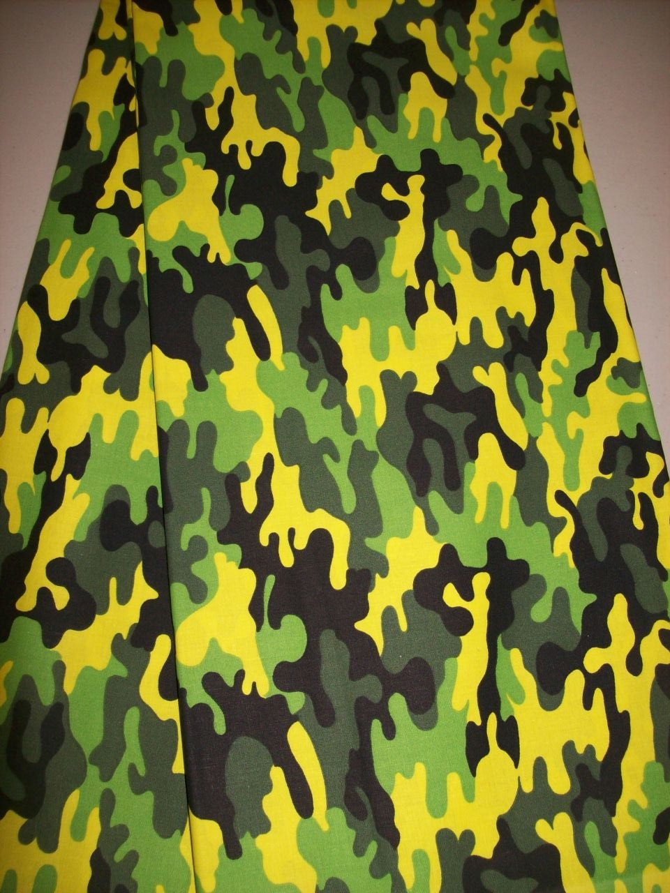 Colorful Camouflage Fabric Per Yard Neon Green Colors Camo