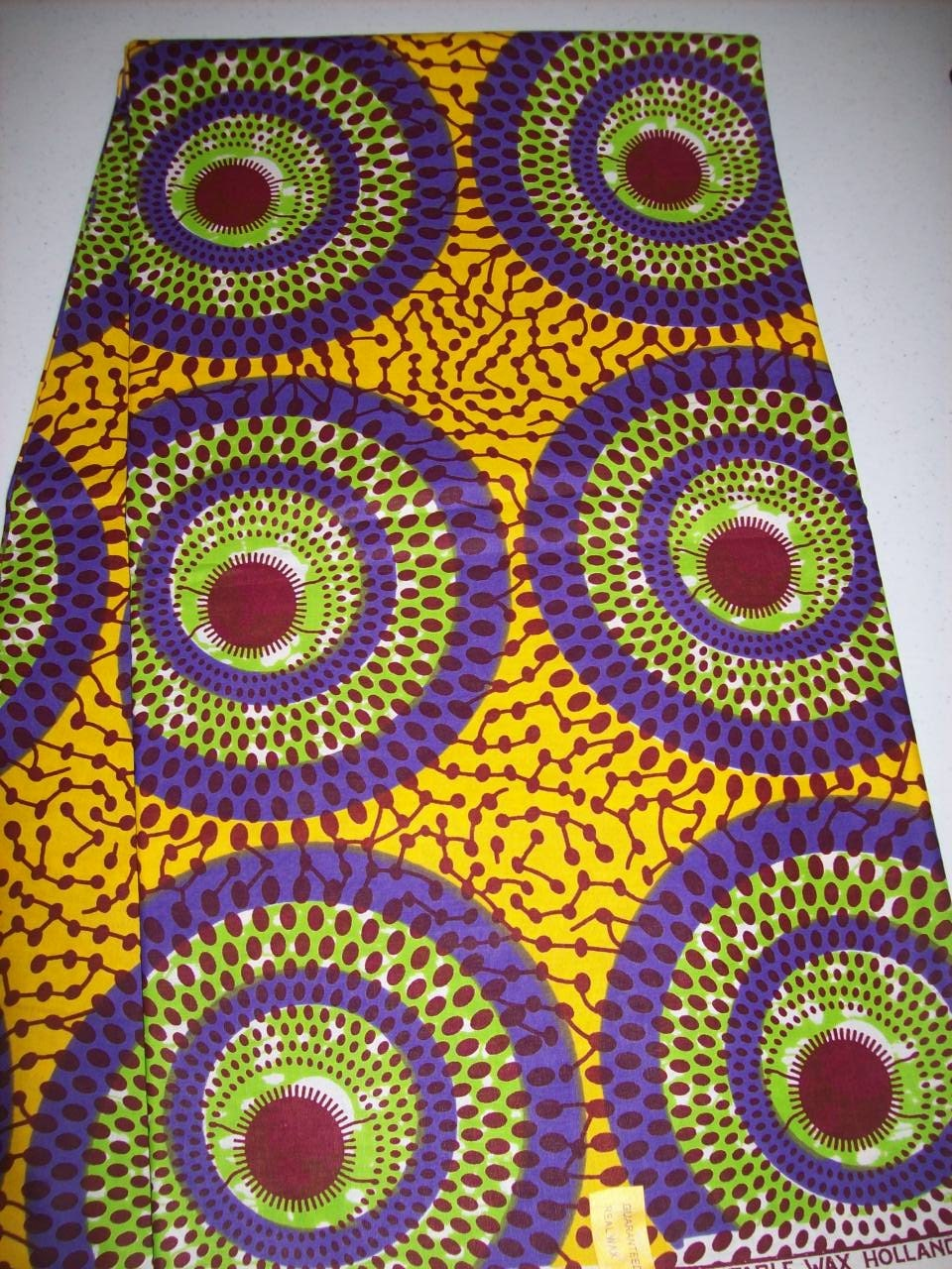 6 Yards African Circles print fabric wholesale Optical