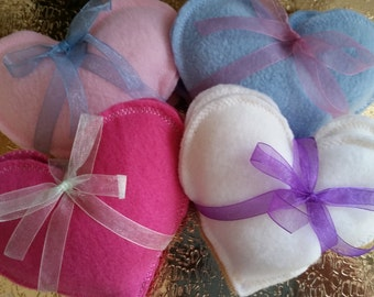 Winter Days~~Valentines Day Heart~~Hand Warmers~~BABY PINK~~Organic~Eco~Friendly~Reusable~~Boo Boo Rice Bags~~FREE Shipping
