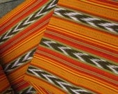 Guatemalan Ikat Fabric in Sunflower Yellow and Orange