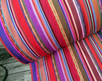 Guatemalan Fabric in Rose Stripes