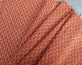 Guatemalan Fabric Gold and Rust Brocade
