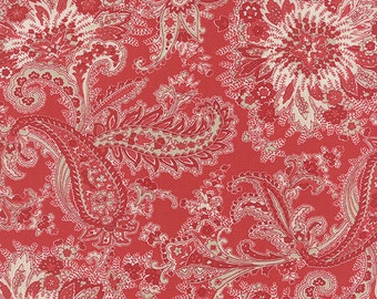 Miss Scarlet - Paisley in Warm Red by Minick & Simpson for Moda Fabrics