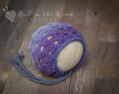 Hope Bonnet - Newborn - READY TO SHIP  - hat - photo prop - newborn - mohair - cashmerino