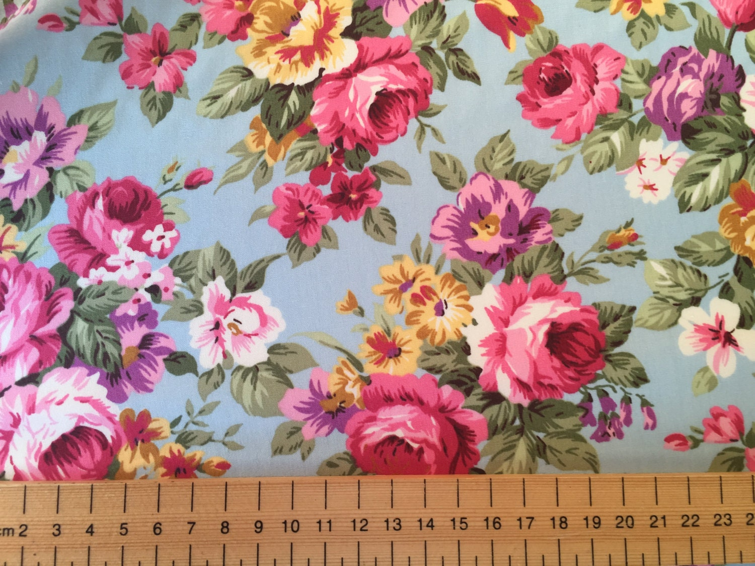 Mulberry Home Vintage Floral FD264.W46 Fabric | Rose/Green ... |Vintage Floral Fabric