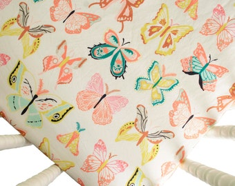 Crib Sheet - Wingspan - Butterfly Crib Sheet - Toddler Sheet