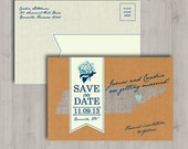 Printable Save the Date Post Card - Rustic State - Tennessee
