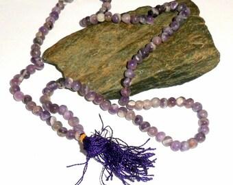 Amethyst Jap Mala Prayer Beads
