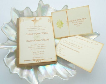 The Mandy Bird Inspired Wedding Invitation - (Sample Set - No. 009)