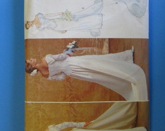 Butterick 4288 Wedding Gown with Detachable Train Pattern, UNCUT, Size 14-16-18