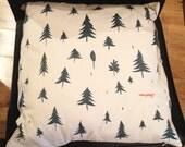 Hand-printed Fox Cushion