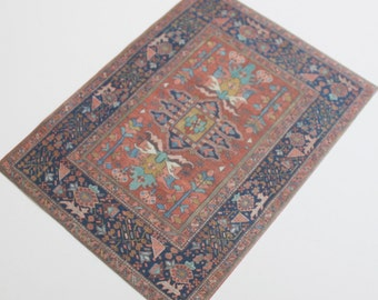 Miniature Dollhouse Rug Oriental in 1:12 Scale