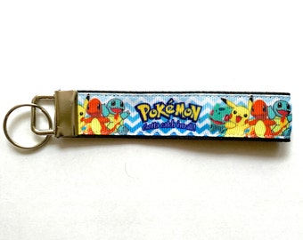 Pokemon Pikachu Squirtle Bulbasaur Cute Fob Wristlet Moving In Gift
