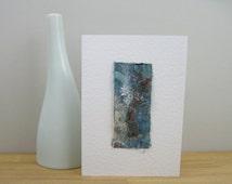 Sea Glass card, blank greeting card, notecard