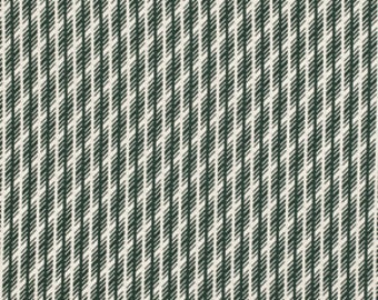 SALE- LAST Yard from Denyse Schmidt's Florence Collection for FreeSpirit- Jagged Stripe in Malachite