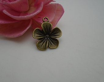 2 colors for choice---100 pieces 22mmx19mm metal flower charm/pendant for jewelry