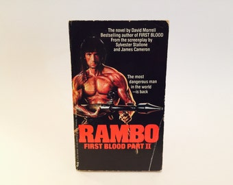 Vintage Action Book Rambo: First Blood Part II Film Novelization 1985 1st Edition Paperback