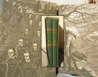 LIKE NEW 1943 Set with Original Case Jane Eyre Wuthering Heights Brontë Sisters Books 31 Amazing Full Page Woodcuts by Fritz Eichenberg