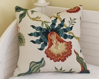 Schumacher Hothouse in Spark Designer Pillow Cover