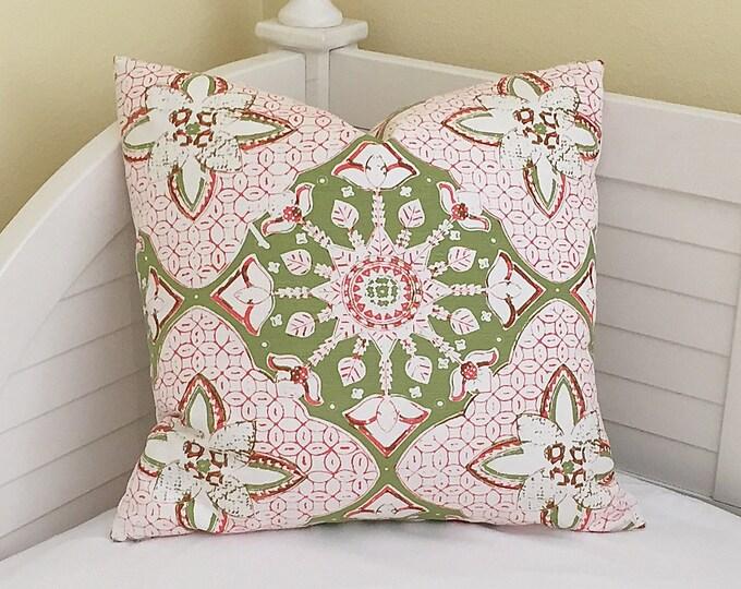 Quadrille China Seas New Batik Designer Pillow Cover - Square and Euro Sizes