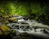 Flowing Water on the Oconaluftee River in The Smoky Mountains in North Carolina No.FF670675 Appalachian Wilderness Landscape Photograph