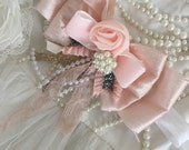 Bon bon french collection by cozette couture handmade headband or clip handmade flower