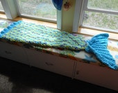 Reserved for Jessica 1 Mermaid tail blanket and 1 shark blanket