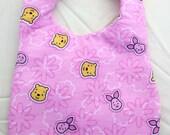Baby Pooh and Piglet Pink Bib