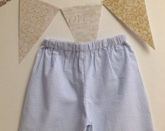 CLEARANCE Two Pairs Boys Classic Seersucker Shorts Size 4