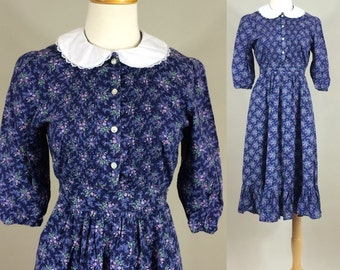 70s Dress / Vintage 1970s Eber Dress / Vintage 70s Babydoll Dress