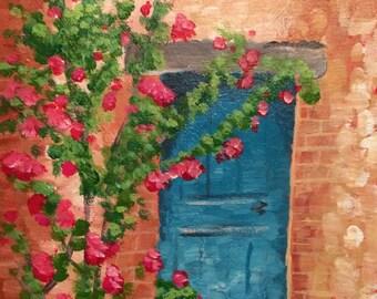 Blue Impressionist Door