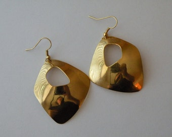 Gold plated abstract earrings