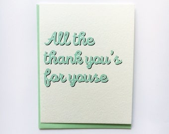 Thank You's for Youse Thank You Card