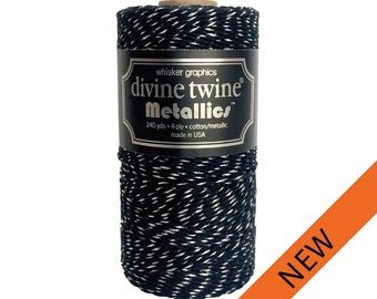 NEW**Black and Silver Divine Twine (240 yds)