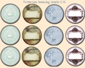 2.50 Victorian Canning Labels, Printable Canning Labels, Shabby Chic Canning Labels, Digital Canning Labels