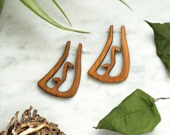 Snapdragon Wooden Earrings