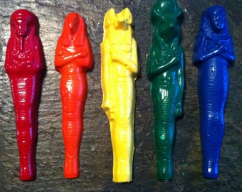Egyptian inspired crayons