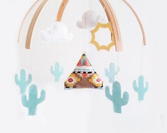 Teepee Nursery Mobile  (custom)