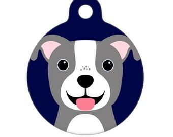 Pet ID Tag - Pit Bull Pet Tag, Dog Tag