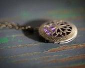 Diffuser Necklace, essential oil locket, bronze necklace