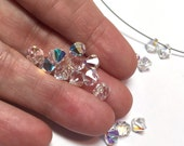 Swarovsli Crystal Beads Clear AB Top Drilled 6mm Beads