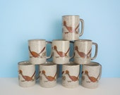Vintage Otagiri Japan Handpainted  Roadrunner Mugs