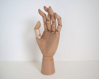 Vintage wood posing hand/ hand display/ hand model /carved wood hand