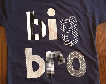 Big Brother Big Bro Shirt, Big Brother Shirt, Big Brother Announcement Shirt, Big Bro, Sibling Shirt - Choose Shirt Color and Sleeve Length