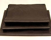 RECLAIMED BLACK LEATHER Fine Grained Low Sheen Genuine Hide Pieces 1249