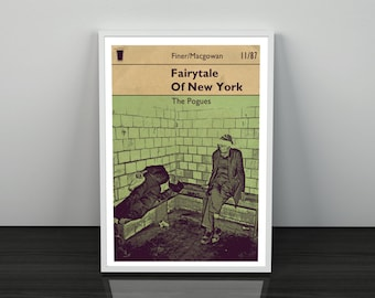 Pogues Fairytale Of New York inspired Art Print